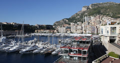 Ultra HD 4K Monaco Skyline, La Condamine, Famous Monaco-Ville French Riviera Stock Footage