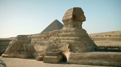 Huge statue sphinx from Egypt times Stock Footage
