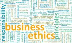 business ethics - stock illustration