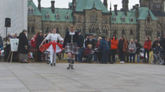 Scottish Canadian Dancers Ottawa Stock Footage