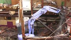 House demolishion Stock Footage