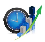 time for great profits. economy concept - stock illustration