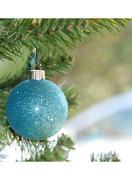 Aqua blue ornament Stock Photos