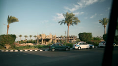 Traveling on roads in Egypt Stock Footage