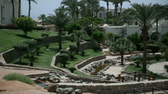 Nice green park in Sharm Stock Footage