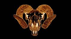Diabolic Goat Skull Stock Footage