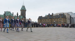 Scottish Dance Troop Stock Footage