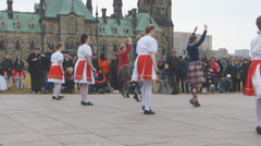 Ottawa Tartan Day Dancers Stock Footage