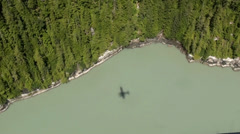 De Havilland Beaver Floatplane in Rugged Alaska Wilderness Stock Footage