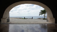 Stock Video Footage of Cozumel Archway Time Lapse