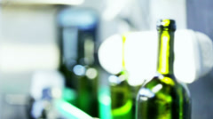 0014 Industrial line for bottling wine Stock Footage