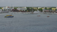 Stock Video Footage of Cozumel Harbor Pan 2