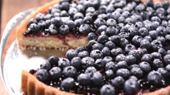 Blueberry Tart - stock footage