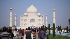 Taj Mahal in Agra, India - stock footage