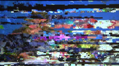 Digital TV bad signal, noise, static. Stock Footage