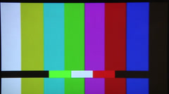 TV Color Bars. Stock Footage