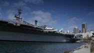 Stock Video Footage of USS Midway Realtime