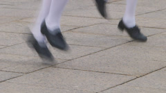 Tap Dancing Close Up Stock Footage