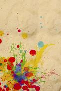 Stock Photo of splashing of ink color drop use for colorful background
