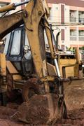 bulldozer performing - stock photo