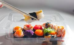 sushi japanese food - stock photo