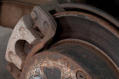 worn drake disk - stock photo