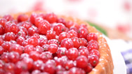 Stock Video Footage of Red Currant Tart (loopable)