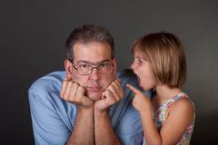 daddy's girl? - stock photo