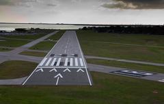 runway - stock photo