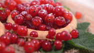 Stock Video Footage of Rotating Red Currant Tart