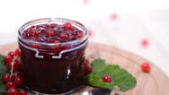 Stock Video Footage of Red Currant Jam (loopable)