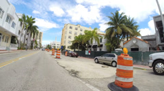 Collins Avenue Miami Beach construction Stock Footage