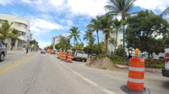 Collins Avenue Miami Beach construction - stock footage