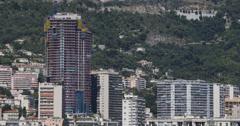 Ultra HD 4K Principality of Monaco Skyline, La Condamine, Famous Monaco-Ville Stock Footage
