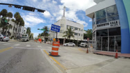 Stock Video Footage of Collins Avenue Miami Beach construction
