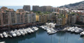 Ultra HD 4K Aerial View Skyline Iconic Fontvieille Harbor, Yachts Rich tax haven 4k or 4k+ Resolution