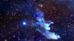 Flight through universe. - stock footage