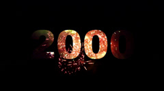 2000-2014 Fireworks 01 Stock Footage
