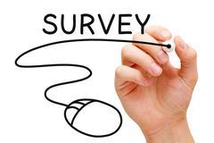 Online survey concept Stock Photos