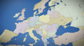 Turkey on map of Europe. Country pull out. Blue, click for HD Web Footage