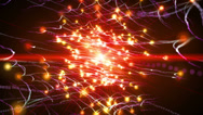 Abstract fantasy motion background, shining lights and particles Stock Footage