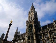 Building of Rathaus (city hall) in Munich, Germany Stock Photos