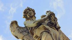 Angel Statue on Ponte Sant Angelo Stock Photos