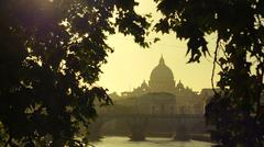 View over Vatican City and Tiber River Stock Photos