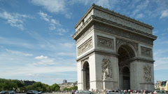 Arc du triomphe paris france Stock Footage