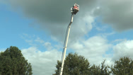 Stock Video Footage of Basket of cherry picker turning