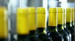 0037 Industrial line for bottling wine Stock Footage