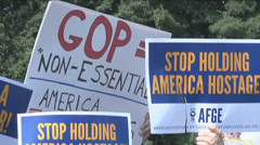 Government Shutdown Rally  - stock footage