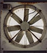rusty fan - stock photo