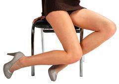 isolated legs on white background - stock photo